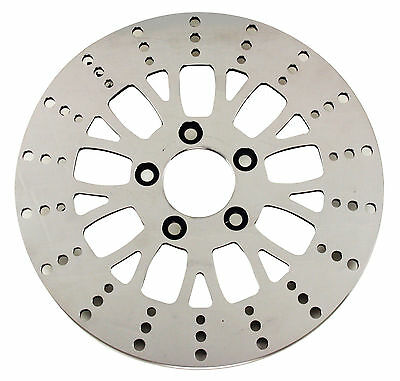 """Ultima Polished S.S. Manhattan Front Rotor for 11.8"""" 08-13 Touring & 06-09 Dyna"""
