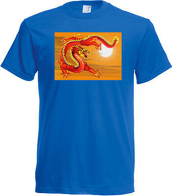 Chinese Sky Dragon T shirt - Choice of size & colour! Myth & Legend