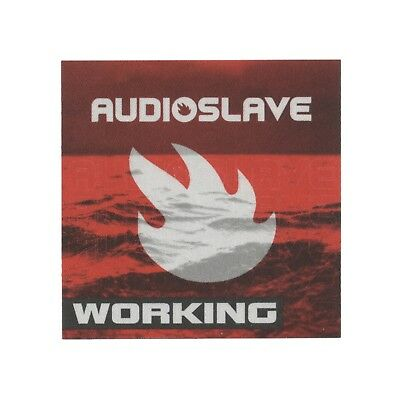 Audioslave authentic Working 2002 tour Backstage Pass