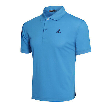 Men's Regular-Fit Polo Shirt Short Sleeve Cool Dry Summer Basic Tee Solid