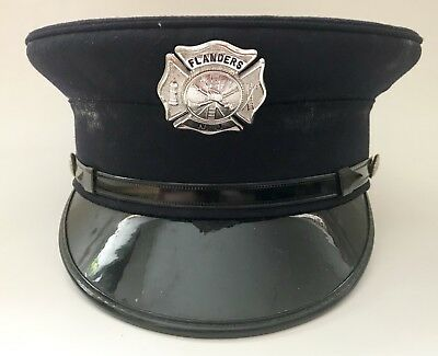 NJ Fire Department Dress Hat Flanders NJ Badge