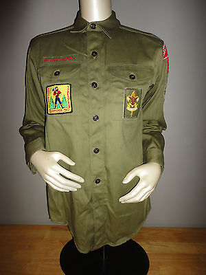 Vintage 1967 1960s BOY SCOUTS OF AMERICA Sanforized Long Sleeve Shirt LEBANON PA