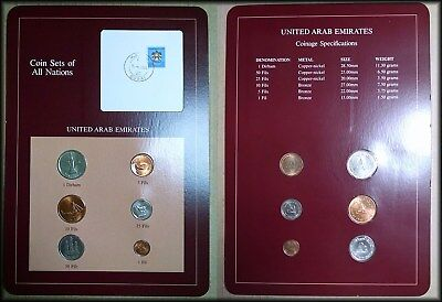 United Arab Emirates UAE UNC Coin Sets of All Nations - Free Shipping! - BBINp