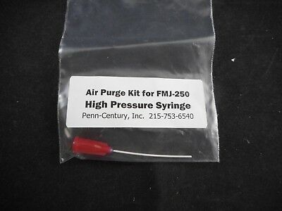 PENN-CENTURY Plastic Air Purge Kit for FMJ-250 High Pressure Syringe 1/Pack
