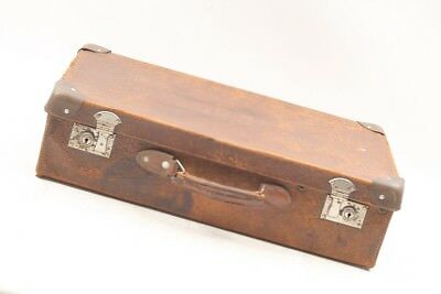 Very Old Suitcase Leather Travel Suitcase Vintage Design Retro Cult