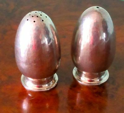 Holger Rasmussen, Sterling Silver Modernist  Salt & Pepper Shakers, Denmark