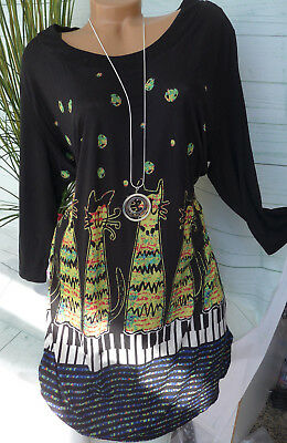 Joe Browns Long Shirt Bluse Tunikakleid Gr. 40 - 56 schwarz (252) NEU