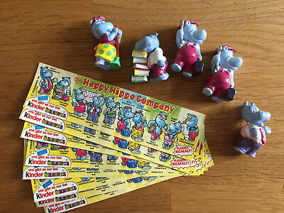 5 Happy Hippo Figuren + 9 BPZ - Happy Hippo Company