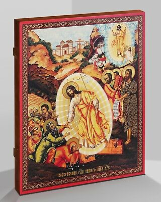 Russian Orthodox icon the Resurrection of Christ Handmade