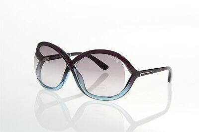 16f3413fab8 Tom Ford Sandra Tf297 20B Grey Transparent Blue Butterfly Style Sunglasses