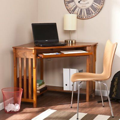 Corner Computer Desk Furniture Home Office Wooden Writing Table Workstation New