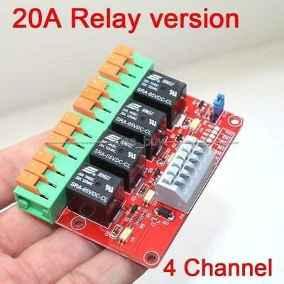 4 Channel 20A Relay Control Module for Arduino UNO MEGA2560 R3 Raspberry Pi