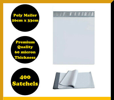 400 Poly Mailer 255x330mm Courier Plastic Bag Self Sealing Mailing Satchel