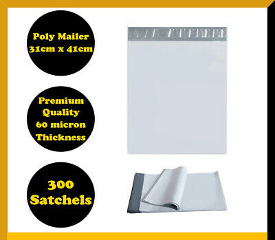 300 Poly Mailer 310x405mm Courier Plastic Bag Self Sealing Mailing Satchel
