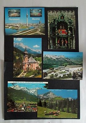 Uncirculated German and Austrian Postcards (12) 1980's