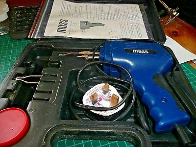 Moss 175W Electric Electrical Solder Soldering Iron Gun Kit 230V -