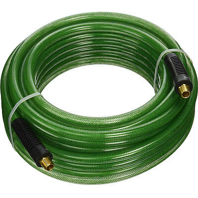 Hitachi 115156 1/4'' x 100' Poly Air Hose w/ Industrial Fittings (Green) New