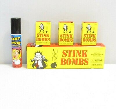 1 Fart Spray And 36 Stink Bombs Glass Vials Combo Stink Pack Gag Gift