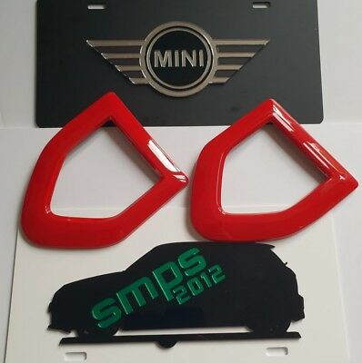 New Mini Countryman Cooper S F60 de-chrome Red Gloss side scuttle covers