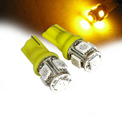 5 Smd Led Light Bulb X2 Dome Map Panel Trunk Plate Interior T10 5050 Yellow