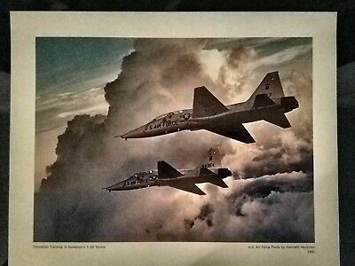 Rare Formation Training in SUPERSONIC T-38 TALONS USAF 8x10 Photo