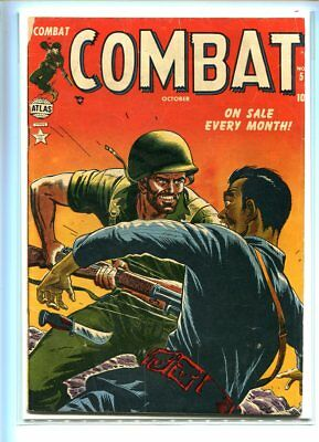 Combat #5 Affordable Grade Intense Cover White Pages