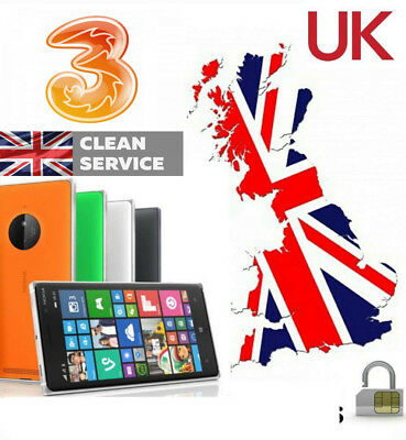 Nokia Lumia  All Models 3 Hutchison UK Unlocking service Unlock Code Imei