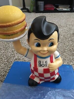 Collectible Frisch's Big Boy Bank with Hamburger - Very Nice