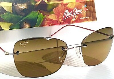 b1b5b6a1306c NEW* Maui Jim APAPANE Rimless w Bronze POLARIZED Lens Women's Sunglass  HS717-16