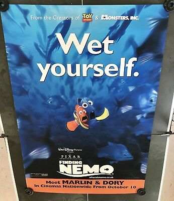 "NEW Disney Finding Nemo ""WET YOURSELF"" Original Bus Poster 4 X 6 Feet Dory"