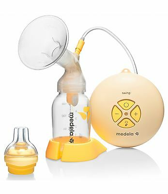 MEDELA SWING Electric Breast Pump with Calma Solitaire Baby Teat NEW + WARRANTY