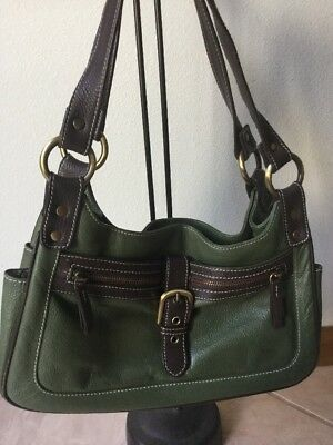 8f9705602d07 CAVALCANTI ITALIAN LEATHER Slouch Hobo Purse Drawstring Shoulder Bag ...