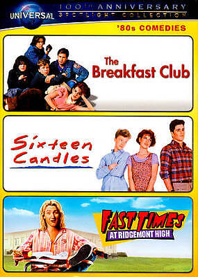 The Breakfast Club / Sixteen Candles / Fast Times at Ridgemont High DVD New