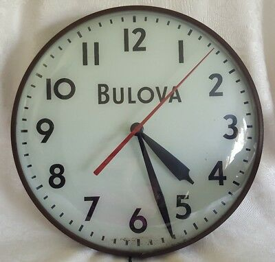Vintage 1950's 60's Bulova Advertising  Pam Electric Wall Clock Very Nice Works