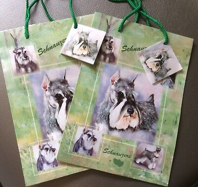 New Schnauzers Dog Gift Bags Set of Two Small Ruth Maystead