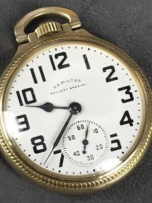 **JUST REDUCED Again**  1948 Hamilton Railway Special 992B Pocket Watch
