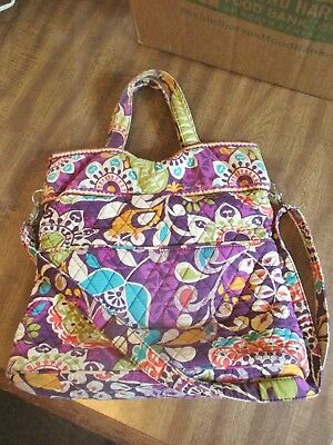 76c4f9a609e7 VERA BRADLEY SATCHEL Tote Purple Punch Pattern -  19.99