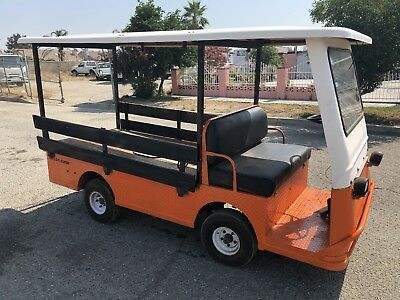 Taylor Dunn B2-48 Industrial Flatbed Electric Utility Cart Side rails Canopy Top