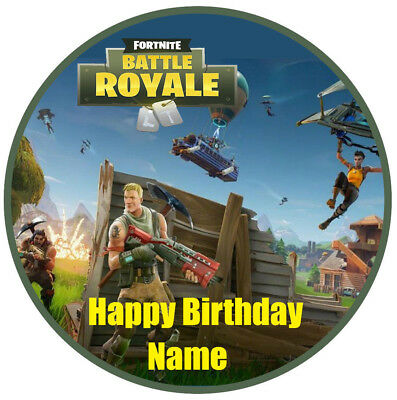 1 x 19 ROUND FORTNITE Personalised Wafer Rice Paper EDIBLE GAMING CAKE Topper