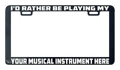 Design your own custom personalized musical instrument license plate frame