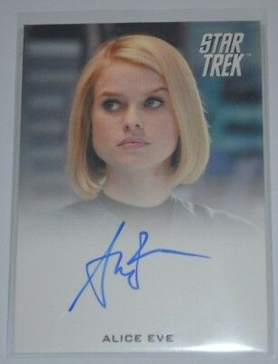 Star Trek -into darkness Autograph Alice Eve AS Carol Marcus Full Bleed 2013