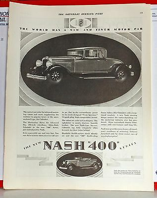 1928 magazine ad for Nash - Nash 400 Salon Cabriolet, for informal motoring