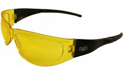 Motorcycle Yellow Lens Sunglasses Petite Wraparound UV400 Anti Fog Shatterproof