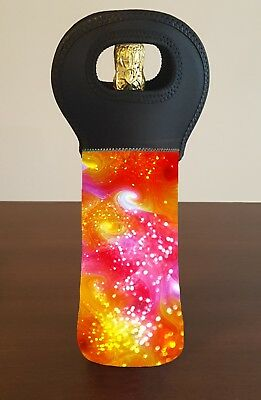 Psychedelic Wine Bottle Cooler Carry Bag