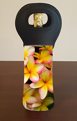 Frangipani Wine Bottle Cooler Carry Bag