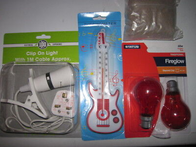 Brooder Kit Heat Lamp Chick Food Anti-Slip Mat and Thermometer .