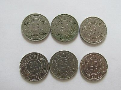 Lot of 6 Different Belize Coins - 1976 to 1993 - Circulated