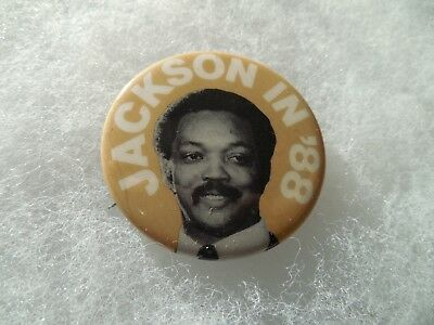 Presidential Pin Back Campaign Candidate President Button 1988 Jesse Jackson.