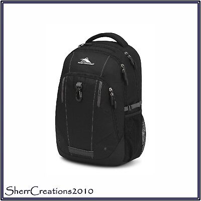 NWT High Sierra Zestar Backpack School Bookbag in Black/Slate Grey #180703-371