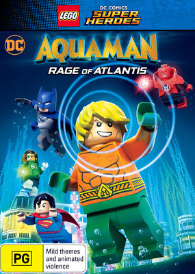 LEGO DC Comics Super Heroes Aquaman Rage Of Atlantis DVD R4 New!